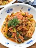 【缶詰レシピ】旨味たっぷり♪簡単♪鯖缶deトマトパスタ♪