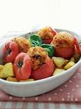 見た目もかわいい♪お米を詰めたトマト