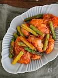 鶏肉とアスパラのケチャマヨソテー