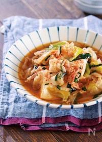 『煮るだけ5分♪『豚バラ豆腐のすき焼き風とろみ煮』』