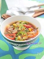 トマトみそのオリーブ春雨スープ§ダイエットトマトスープ