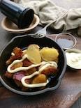 焼肉のたれで簡単1:1〜さつま芋濃厚クリチ炒め(作りおき)〜