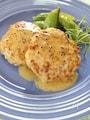 鶏バーグの粒マスタードソース