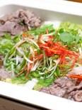 牛薄切り肉で代用 はりはり鍋