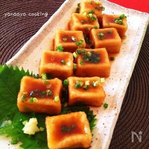 高野豆腐で揚げ出し豆腐♬