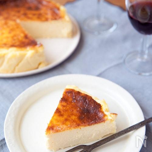 焦げ目がおいしい!バスク風チーズケーキ