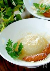 『ストウブで丸ごと新玉ねぎの白味噌チーズスープ煮』