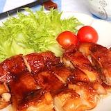肉汁じゅわ〜♡味付けはオール大さじ2!照り焼きチキン