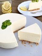 定番のレアチーズケーキ