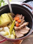 【STAUB】塩豚と野菜たっぷり無水調理