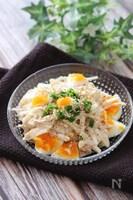 食感も味もやみつき間違いなし♡白菜と長芋の和風卵サラダ