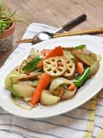 彩り野菜の南蛮漬け*レンジでちょい時短!