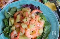 【おかずサラダ】えびと新じゃがのレモンカルボサラダ