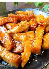 『ご飯によく合う☆厚揚げと鶏ささみの甘辛炒め』