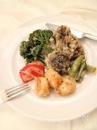 ホタテと舞茸と彩野菜のフリット