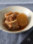 あなわたで、豚バラ肉と大根のオイスター煮