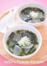 『大根とわかめの中華スープ♡我が家の定番スープです♪』