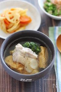 食べ応え満点♪鶏肉と厚揚げのぽかぽかスープ