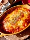トマトジュースで作る♪とろとろトマトシーフードグラタン