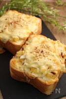 厚切り!さつまいものオニオンチーズトースト