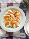 レンジで簡単♪ツヤツヤリンゴ蜜煮のカプレーゼ