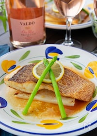 『食べてびっくりの美味しさ!鯛と長芋のソテー*レモンバター醤油』