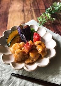 『『食欲そそる…』鶏と夏野菜の南蛮炒め』