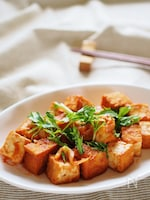 ケチャップと焼肉のタレで簡単!厚揚げのチリソース風