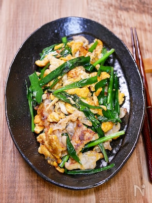 ガッツリご飯のおかず「ニラ豚玉炒め」