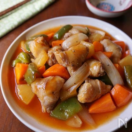 高野豆腐入りヘルシー酢豚