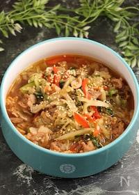 『レンジで簡単!ユッケジャンスープ 野菜たっぷり』