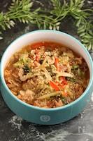 レンジで簡単!ユッケジャンスープ 野菜たっぷり