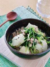 簡単*豆苗と豆腐の塩麻婆