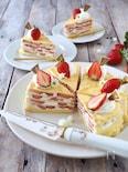 苺のミルクレープケーキ