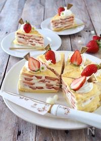 『苺のミルクレープケーキ』