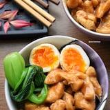 【胸様レシピ】レンジde簡単♪魯肉飯風♪