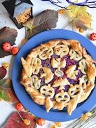 紫芋と林檎のハロウィンパイ