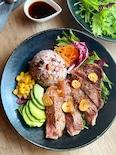 ジンジャーソースでお肉と野菜を一緒に!お手軽カフェ風プレート