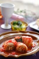 イソフラボンたっぷり♡トマトジュースでヘルシーロール白菜