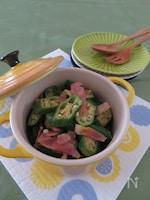 オクラのカリカリベーコン炒め☆カレー風味