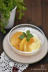 【適糖スイーツ】りんごとレモンのキャラメリゼヨーグルト添え