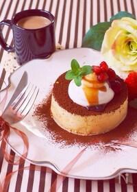 『ティラミス風スフレパンケーキ』