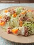 ツナとキャベツの簡単マヨドレッシングサラダ