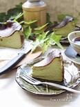 ついに作った⁈バスク風チーズケーキ★お抹茶version
