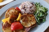 彩り野菜と豚肉のスパイシーソテー
