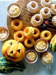 ふわふわ食感*ハロウィンのヘルシーパンプキンケーキ