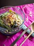きゅうりとワカメの冷麺