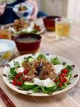 豚生姜焼きのっけサラダ