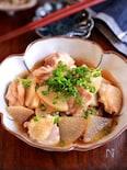 【鶏大根の生姜めんつゆ煮】レンジで楽ちん!