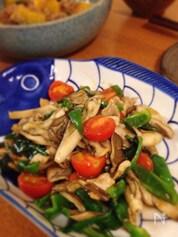 半端野菜とこま切れ肉で作る香味炒め